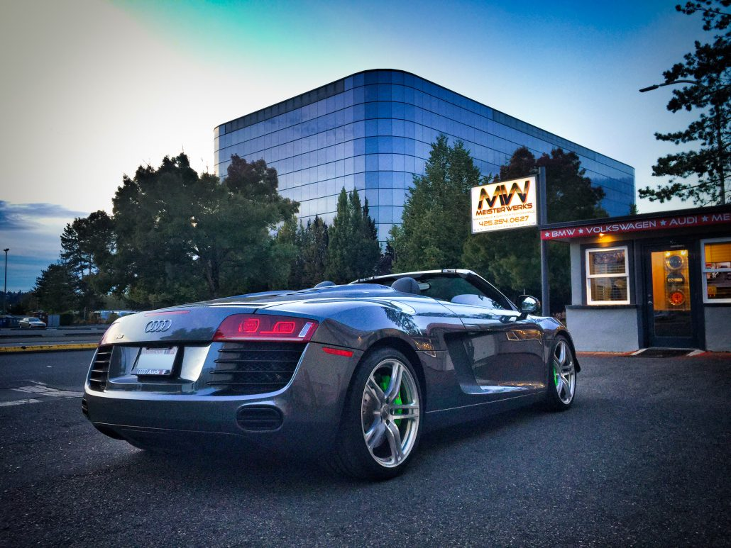 Audi R8 Spyder - Meister Werks 1 block south from The Renton Landing