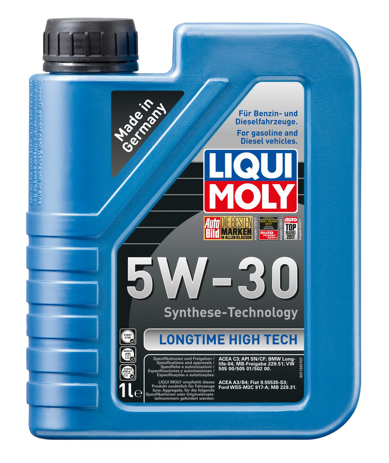 Mobil 1 Oil Filter >> Liqui Moly LONGTIME HIGH TECH 5W-30 - Meister Werks ...