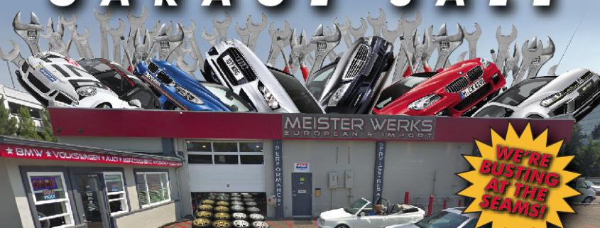 Meister Werks 2019 New Years Garage Sale & Swap Meet